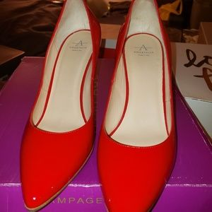 Aquatalia red pumps size 10